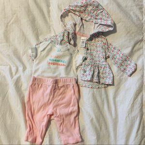 Newborn hoodie 3 piece outfit
